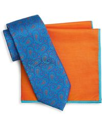 Ted Baker - Two-piece Paisley Silk Tie And Pocket Square Set - Lyst