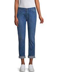 4c26962243c Stella McCartney Star-print Skinny Boyfriend Jeans in Blue - Lyst