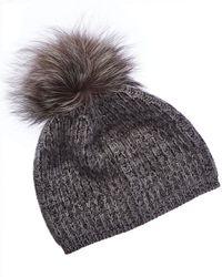 8a1e659c96a4d Portolano - Cashmere Hat With Pom - Lyst