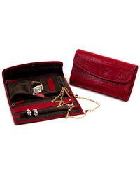 Bey-berk - Croco Leather Multi-compartment Jewellery Clutch - Lyst