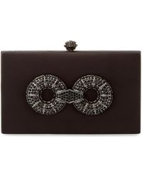 Badgley Mischka - Embellished Satin Square Clutch - Lyst