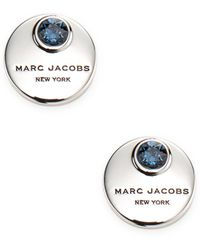 Marc Jacobs - Mj Coin Stud Earrings - Lyst