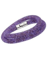 Swarovski - Crystal Stardust Plated Convertible Bracelet - Lyst