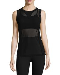 Electric Yoga | Overlaying Mesh Top | Lyst