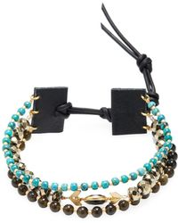 Chan Luu - Beaded Semi-precious Stone Cord Bracelet - Lyst