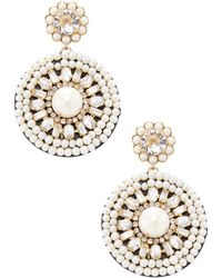 Kate Spade - Gold -plated Metal And Leather Statement Earrings - Lyst
