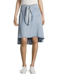 Saks Fifth Avenue - Cilla Front Tie Skirt - Lyst