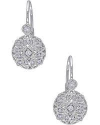 Rina Limor - 14k White Gold & 0.14 Total Ct. Diamond Drop Earrings - Lyst
