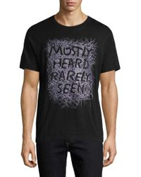 Mostly Heard Rarely Seen - Stencil Stitch Cotton Tee - Lyst