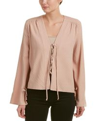 Olivaceous - Lace-up Top - Lyst