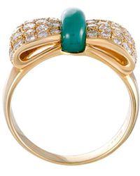 Heritage Van Cleef & Arpels - Van Cleef & Arpels 18k 1.00 Ct. Tw. Diamond & Chalcedony Ring - Lyst