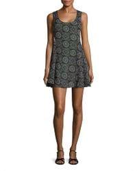 Marabelle - Printed Swing Dress - Lyst