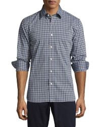 Jack Spade - Grant End On End Unbalanced Check Point Sportshirt - Lyst