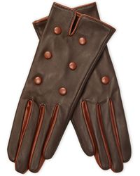 Maison Fabre - Buttoned Leather Gloves - Lyst