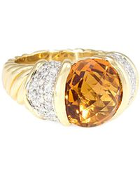 David Yurman - David Yurman Cable Classics 18k 5.75 Ct. Tw. Diamond & Citrine Ring - Lyst