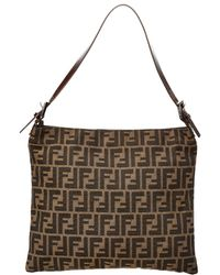 Fendi - Brown Zucca Canvas Shoulder Bag - Lyst