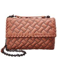 8eb9ef385165 Bottega Veneta - Dahlia Microstud Leather Shoulder Bag - Lyst