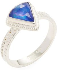 Anna Beck Jewelry - Triangle Lapis Triplet Single Ring - Lyst
