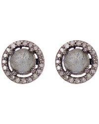 Adornia - Fine Jewellery Silver Labradorite Studs - Lyst