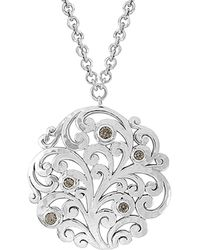 Lois Hill - Silver Toggle Necklace - Lyst