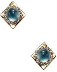 Alexis Bittar | Lucite Encrusted Geometric Stud Earrings | Lyst