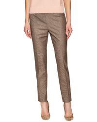 Brooks Brothers - Lucia Checkered Mid-rise Pant - Lyst