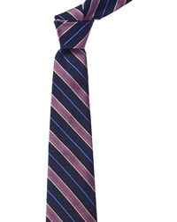 Brooks Brothers - Navy & Pink Stripe Silk Tie - Lyst