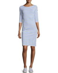Saint James - Propriano Stripe Shift Dress - Lyst
