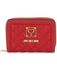 Love Moschino - Quilted Leather Wallet - Lyst
