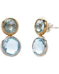 Gurhan - Galapagos 24k Over Silver Blue Topaz Earrings - Lyst