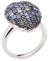Effy - Sterling Silver Multi-color Sapphire Ring - Lyst