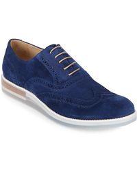 Bugatchi - Suede Brogue Shoes - Lyst