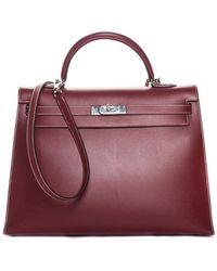 Hermès - Red Leather Kelly 35cm, Phw - Lyst