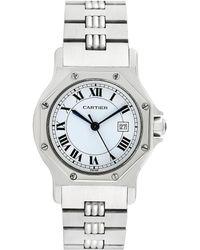 Cartier - Cartier 1990s Santos Octagon Watch - Lyst