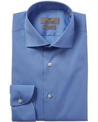 Canali Slim Fit Dress Shirt - Blue