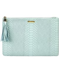 Gigi New York - Uber Embossed Clutch Bag - Lyst