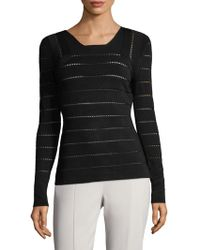 Narciso Rodriguez - Pointelle Stripe Jumper - Lyst