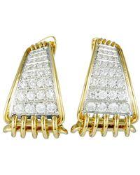 Damiani - 18k Two-tone 1.68 Ct. Tw. Diamond Earrings - Lyst