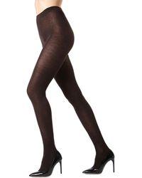 Memoi - Cashmere Flat Knit Tights - Lyst