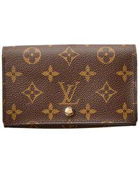 Louis Vuitton - Monogram Canvas Tresor Wallet - Lyst