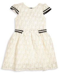 Zoe - Lattice Lace Dress - Lyst