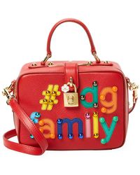 7fbcc68d0b Lyst - Dolce   Gabbana Dolce Box Handbag With Dg Family Patch in ...