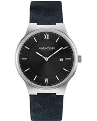Caravelle NY - Caravelle New York Men's Leather Watch - Lyst