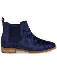 TOMS - Ella (navy Velvet) Pull-on Boots - Lyst