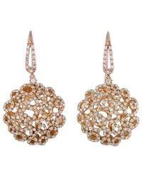Roberto Coin - 18k Rose Gold 2.25 Ct. Tw. Diamond Earrings - Lyst