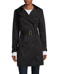 Cole Haan - Double Breasted Hood Trench Coat - Lyst