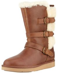 UGG - Becket Triple Buckle Leather Boot - Lyst
