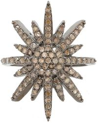 Adornia - Fine Jewellery Silver 0.80 Ct. Tw. Diamond Ring - Lyst