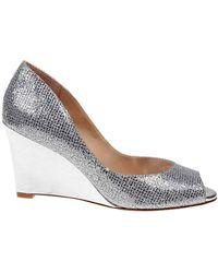 Badgley Mischka - Awake Glitter Wedge Heel Shoes - Lyst