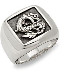 John Hardy - Legends Naga Sterling Silver Ring - Lyst